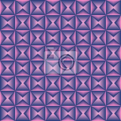Rosa Blau gemischtes geometrisches nahtloses Muster.