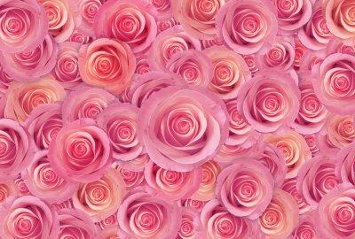 Bild Rosa Rosen Blume Hintergrund, glücklich Valentinstag