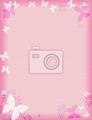 rosa Schmetterling Grenze