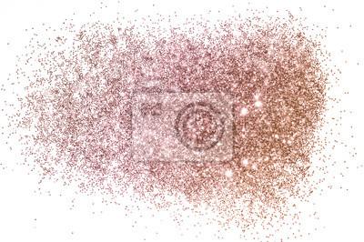 Bild Rose gold glitter on white background