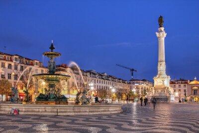 Bild Rossio-Platz in Lissabon, Portugal