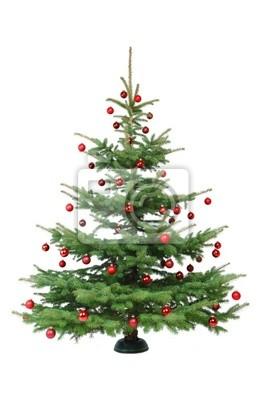 Schmuck Für Weihnachtsbaum.Bild Rot Geschmückter Weihnachtsbaum