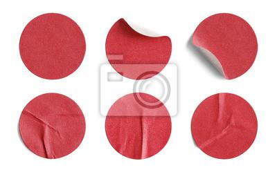 Bild Rot Runder Aufkleber