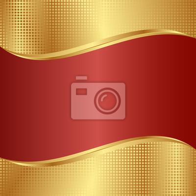 Bild Rot und Gold Hintergrund
