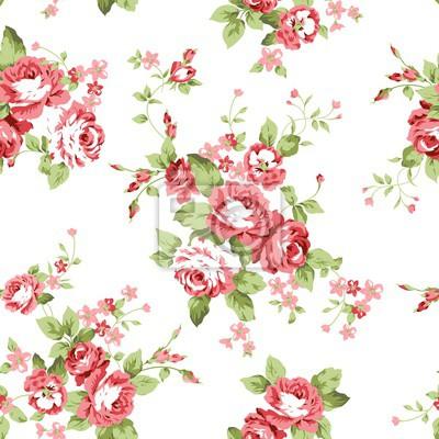 Rote Blumen Nahtlose Muster