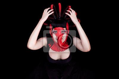 Rote Maske