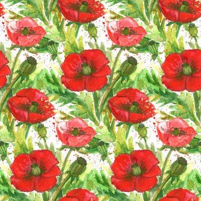 Bild Rote Mohnblumen Aquarell Illustration