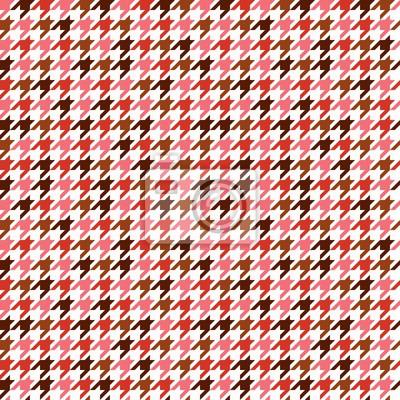 Rote Pied de Poule Nahtlose Muster
