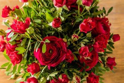 Bild Rote Rosen Strauß