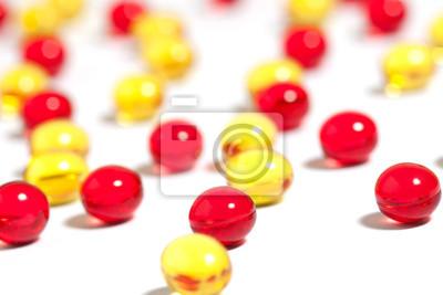 Rote und gelbe Pillen