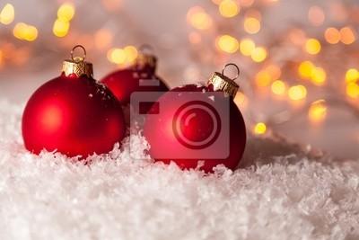 Bild Rote Weihnachtskugeln