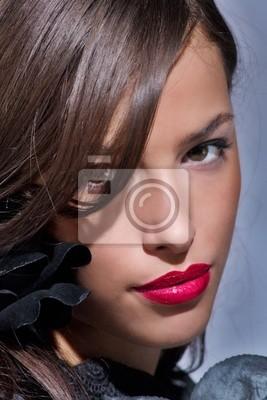 roten Lippen
