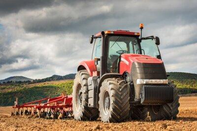 Bild Roter Traktor.