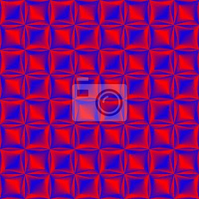 Bild Rotes Blau gemischtes geometrisches nahtloses Muster.
