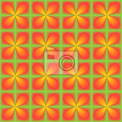 Rotes gelbes Grün mischte geometrisches nahtloses Muster.