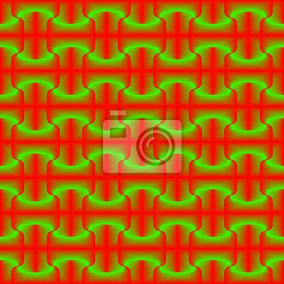 Rotes Grün gemischtes geometrisches nahtloses Muster.