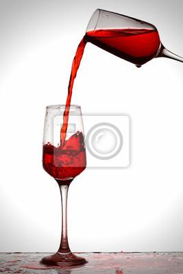 Rotwein spritzen