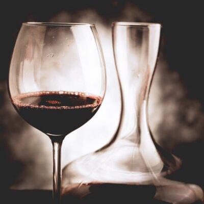 Bild Rotweinprobe - Weinleseartfoto