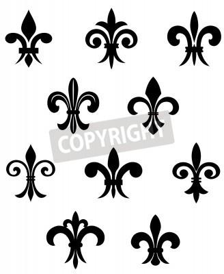 Royal french lily symbols for design and decorate leinwandbilder Mesmerizing Decorate Design
