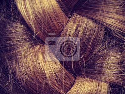 Bild Rückansicht der Frau mit blonden Flechten.