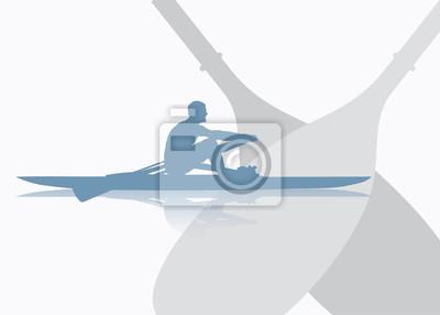 Rudern Hintergrund - Vektor-Illustration