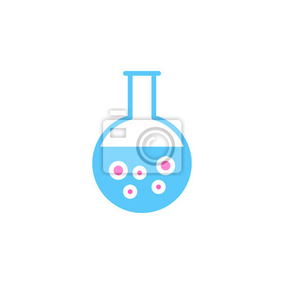 Runde boden flasche, becher bunte vektor-symbol, gefüllt flache ...