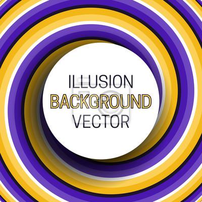 Runder Rahmen mit Schatten auf Illusionhintergrund der beweglichen Wendel.