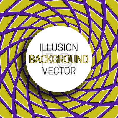 Runder Rahmen mit Schatten auf Illusionhintergrund des beweglichen Vierecksmusters.