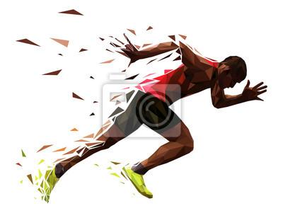 Bild runner athlete sprint start explosive run vector illustration
