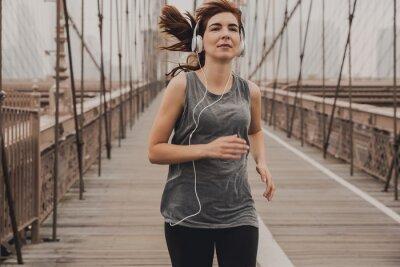 Running on Brooklyn bridge