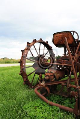 Bild Rusty Old Tractor, Nahaufnahme