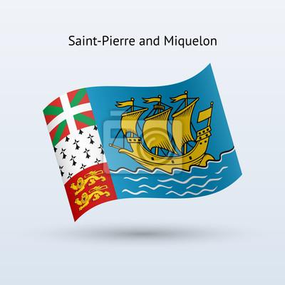 Saint-Pierre und Miquelon Fahnenschwingen Form.