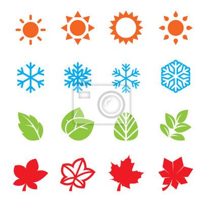 Bild Saison-Icon-Set