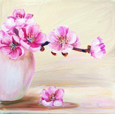 Bild Sakura Blumen in der Vase