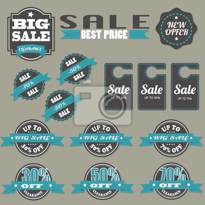 Sale Tags Illustration Vector Set.