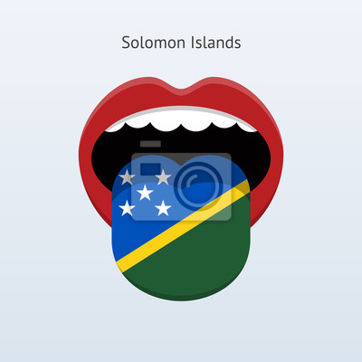 Salomonen Sprache. Abstrakt menschliche Zunge.
