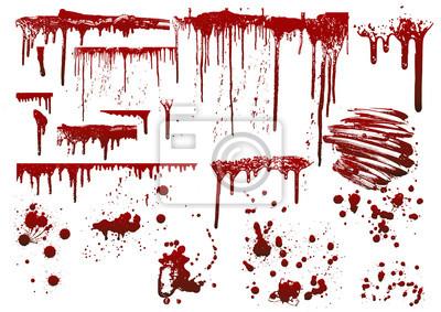 Bild Sammlung verschiedene Blut oder Farbe Spritzer, Halloween-Konzept