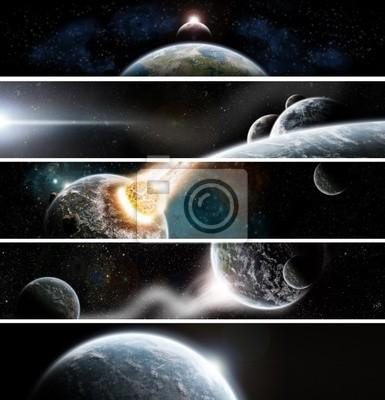 Sammlung von 5 Banner: Space design