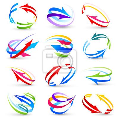 Bild Sammlung von farbigen Pfeilen