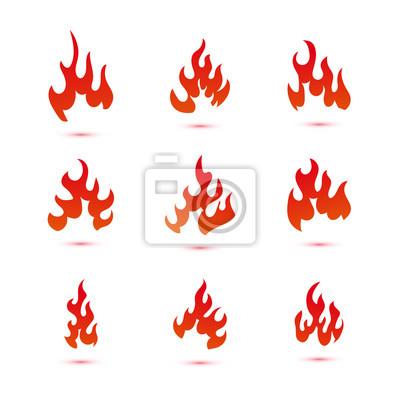 Flamme Designs Feuer Flammen Malvorlagen