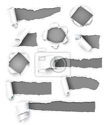 Bild Sammlung von grauem Papier . Vektor-Illustration