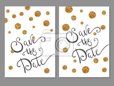 Bild Sammlung von Universal Modern Stylish Karten Vorlagen mit goldenen Punkte.