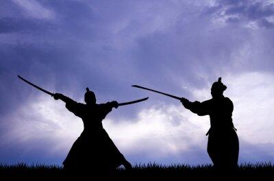 Bild Samurai-Silhouette