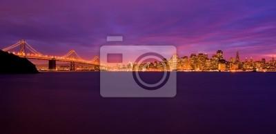Bild San Francisco und Bay Bridge bei Nacht