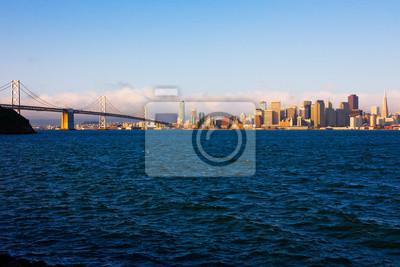 Bild San Francisco und Bay Bridge bei Sonnenaufgang