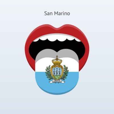 San Marino Sprache. Abstrakt menschliche Zunge.