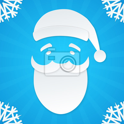 Santa Claus in Papier-Stil