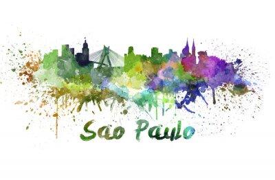 Bild Sao Paulo skyline in watercolor