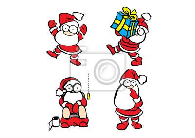Satz Illustration von Santa Claus