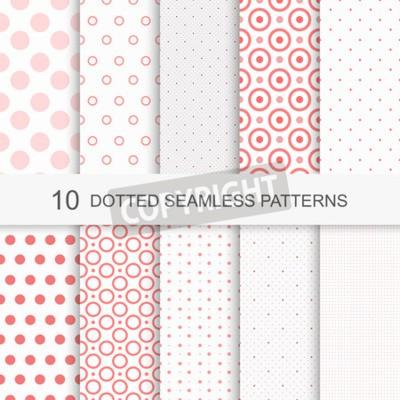Bild Satz von charmanten nahtlose Muster mit Punkten